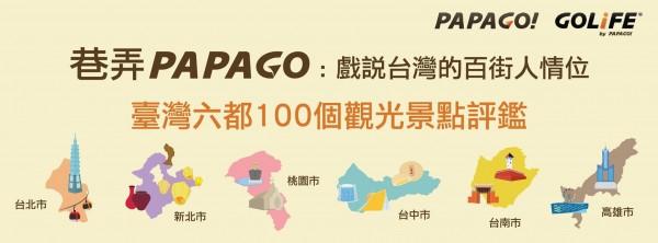 政大與廠商合作,舉辦台灣6都百大觀光景點評鑑,盼透過網路眾人智慧,找出最受歡迎的景點,讓政府投注資源。(擷取自活動臉書專頁)