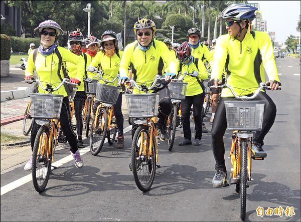 Pbike為市民帶來不一樣的單車體驗。(記者羅欣貞攝)
