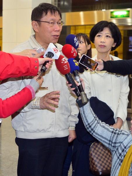 台北市長柯文哲日前受訪時透露,與妻子陳佩琪因選舉補助款問題發生爭執。(資料照,記者王藝菘攝)