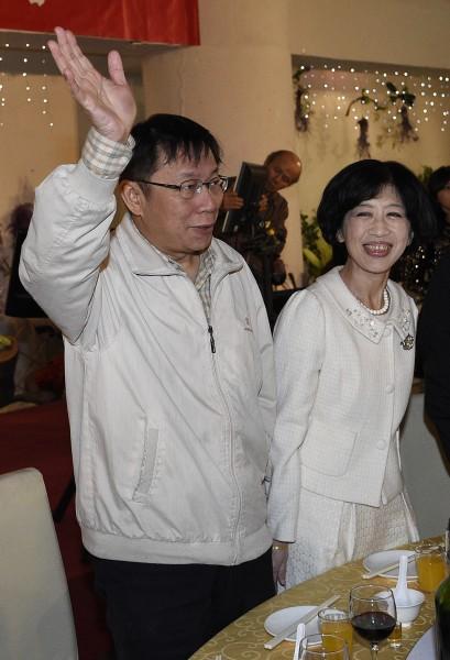 柯文哲偕妻子陳佩琪一同至故宮看展覽,駁兩人感情不睦一事。(資料照,記者陳志曲攝)