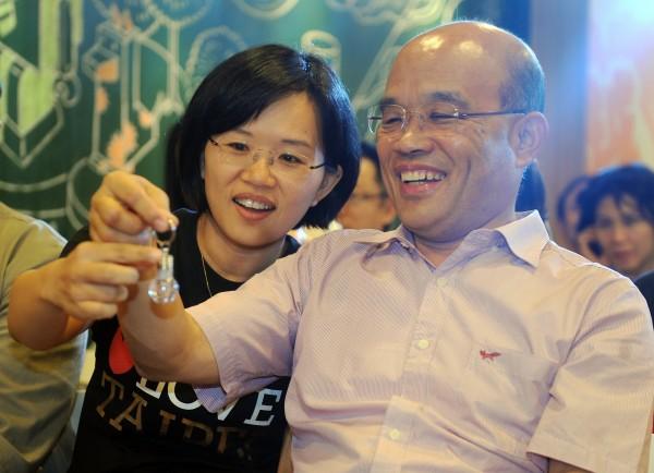 蘇貞昌女兒蘇巧慧傳出也被勸進參選立委。(資料照,記者廖振輝攝)