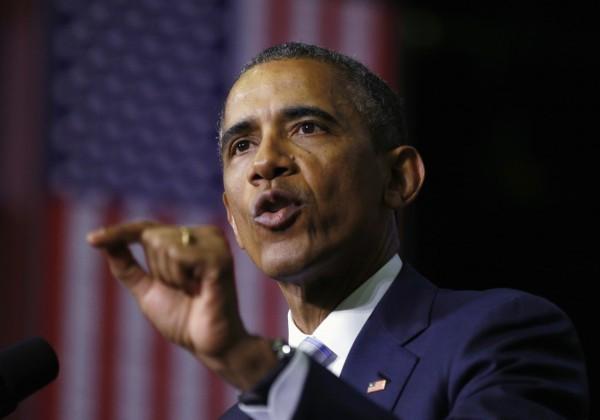 美國總統歐巴馬在法國大遊行當天留在白宮華府,引來外界大肆批評。(路透)
