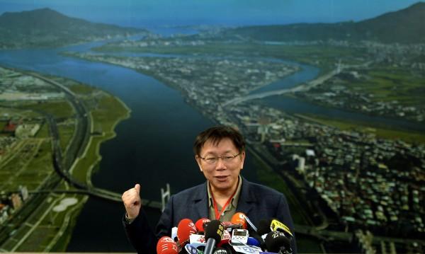 台北市長柯文哲表示,上任後的善後過程中,發現許多問題,決定提前在本週啟動廉政委員會。(記者林正堃攝)
