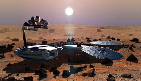 兩巨頭合作下,往後火星上也有望能上網!圖為火星表面。(法新社)