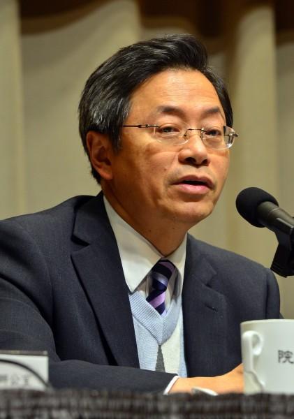 行政院副院長張善政今天召開資安會報,他強調,「中國把台灣當作網路資訊攻擊試驗場」,很多手法是全球首見。(記者王藝菘攝)