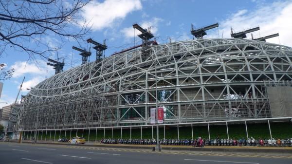 遠雄集團上午對外發表聲明表示,台北大巨蛋與國父紀念館地下連通道設計及通道中的商場規劃,這些都非遠雄工程,皆無參與。(資料照,記者游蓓茹攝)