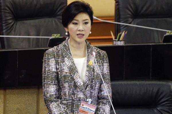 泰國國會今天確定通過前總理盈拉的彈劾案。(路透)