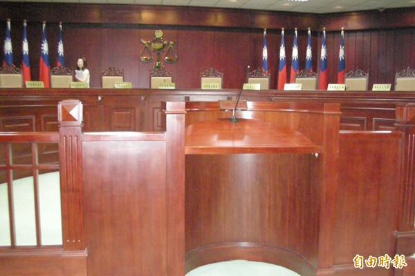 司法院大法官會議的憲法法庭(資料照,記者項程鎮攝)