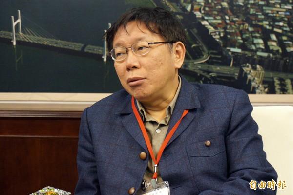 台北市長柯文哲。(記者郭安家攝)