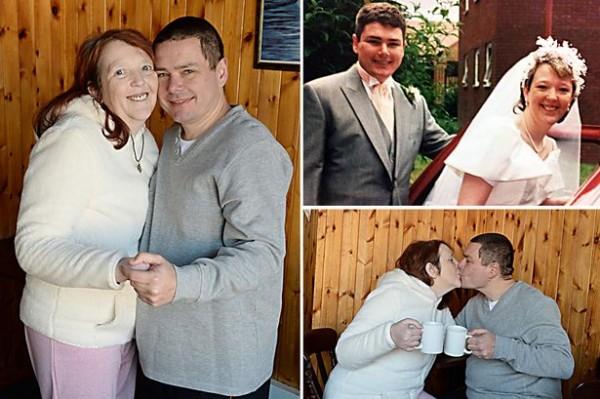 英國一對男女一見鍾情,認識才短短36個小時就同居,一個月後結婚,至今已22年,兩人仍相知相惜。(圖擷取自英國《鏡報》)