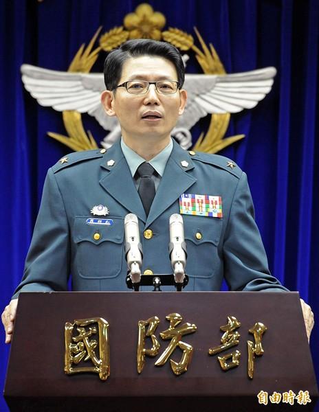 國防部發言人羅紹和。(資料照,記者朱沛雄攝)