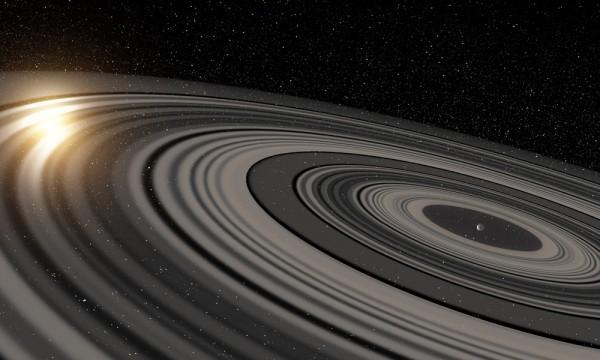 荷蘭萊頓天文台與紐約的羅徹斯特大學團隊在太陽系外,首次發現和土星同樣擁有環狀系統的行星。(圖擷取自羅徹斯特大學新聞中心)