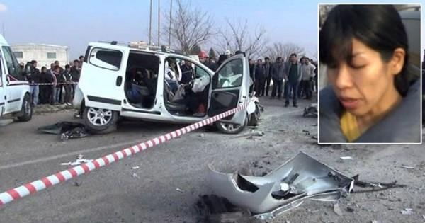 日本富士電視台女記者高谷一美為趕趕換囚期限,在前往土耳其邊境採訪時車禍身亡。(日本電視台)