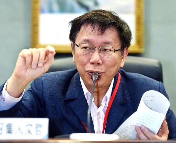 台北市長柯文哲質疑「九二共識」,讓台北上海「雙城論壇」能否繼續舉辦被打上了問號。(資料照,記者方賓照攝)