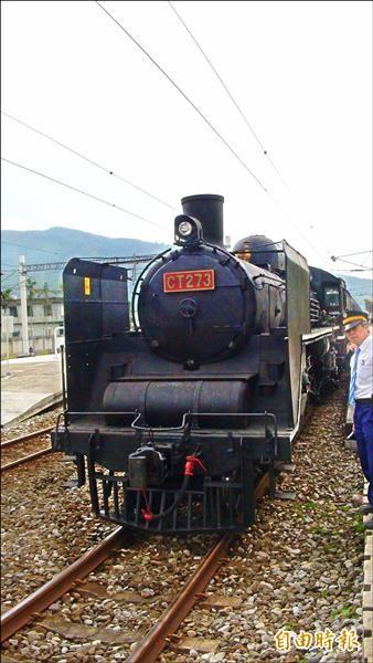 CT273蒸汽車頭今年七月還將在花蓮推出郵輪式列車之旅。(記者花孟璟攝)