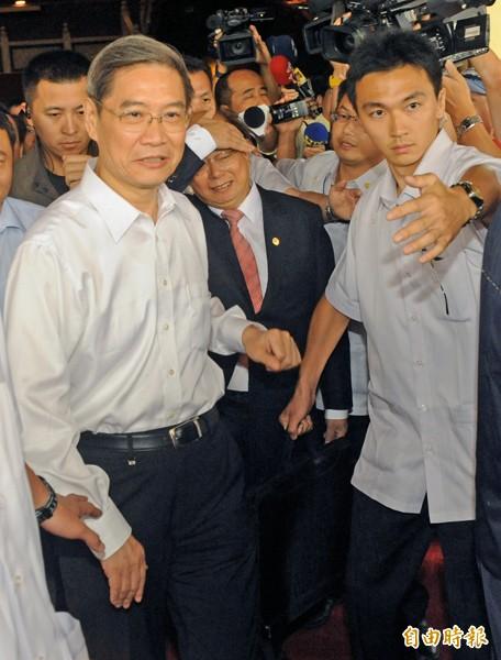 中國國台辦主任張志軍(前左一)。(資料照,記者張忠義攝)