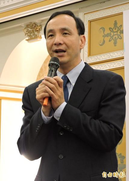國民黨主席、新北市長朱立倫。(資料照,記者賴筱桐攝)