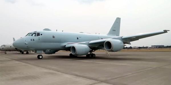 圖為日本自行開發的國產巡邏機「P1」。(圖擷取自YouTube)