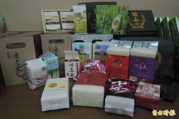 台東縣各農會紛紛推出小包裝米,配合消費者需求。(記者張存薇攝)