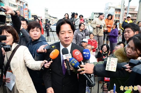台南市長賴清德盼司法查個水落石出,還給市民公道與尊嚴。(記者吳俊鋒攝)