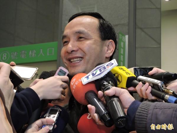 針對台南市議會議長李全教涉嫌賄選,國民黨主席、新北市長朱立倫表示尊重司法。(記者賴筱桐攝)