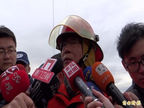 北市消防2大隊長劉永洲(記者徐聖倫攝)
