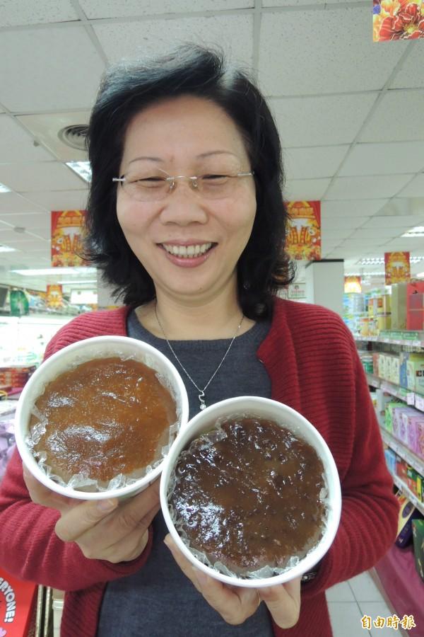 台東地區農會推出應景年糕,不含防腐劑,新鮮好吃!(記者張存薇攝)