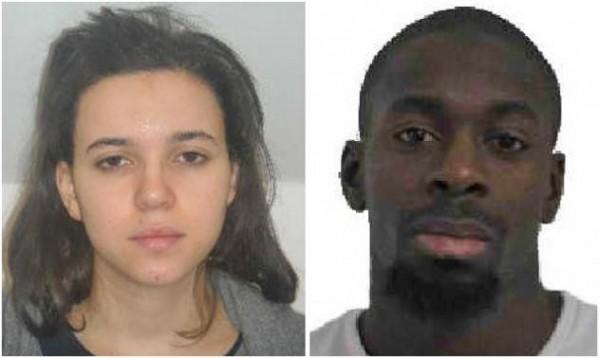 布梅迪恩(左)和身為恐襲嫌犯的丈夫柯利巴里。(路透)