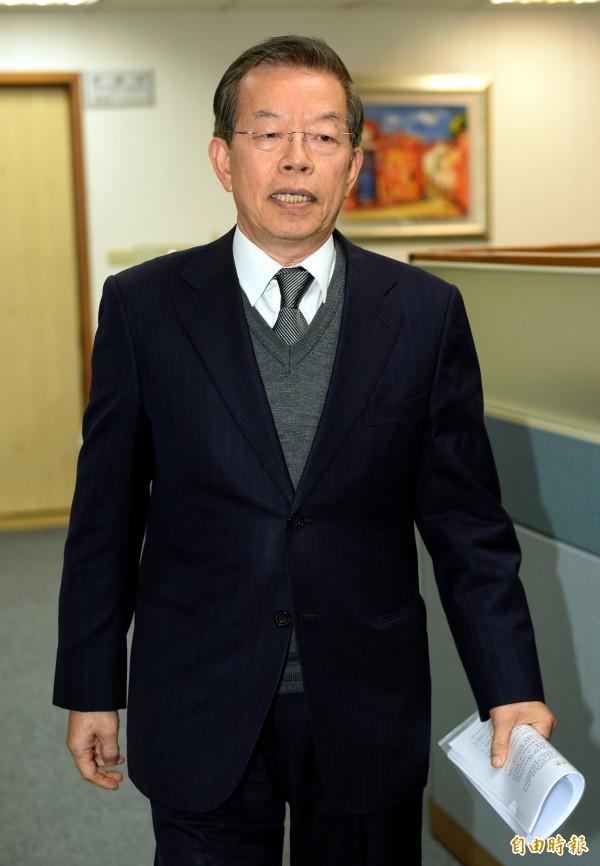 謝長廷是否參選立委,今天仍未鬆口。(資料照,記者林正堃攝)