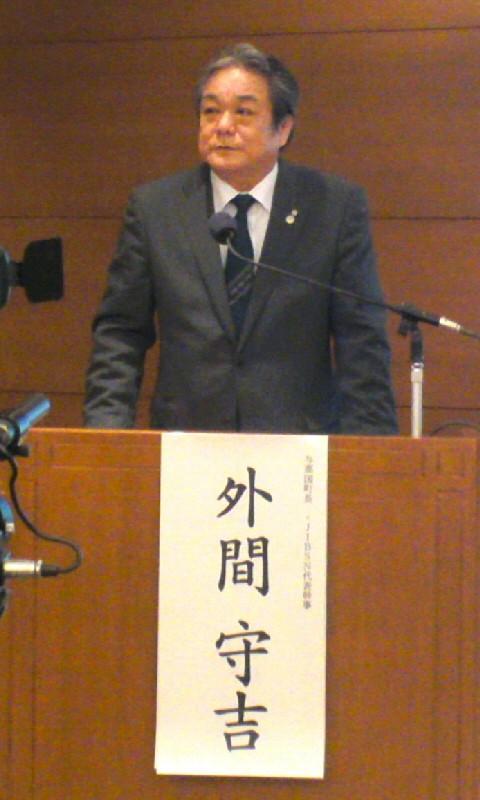 日本與那國島將就部署陸上自衛隊進行居民投票,圖為與那國島町長外間守吉。(圖擷取自http://bonin.ti-da.net/)