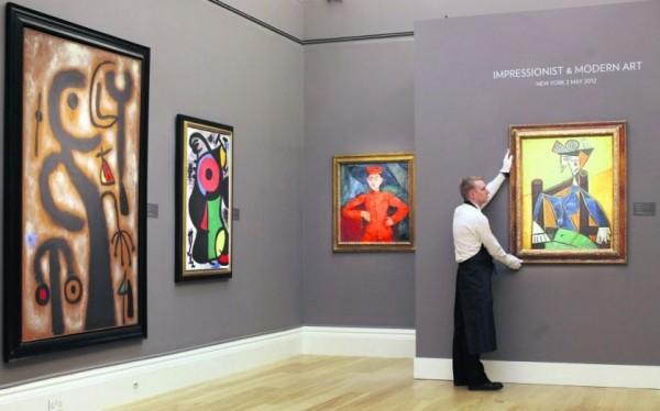 蘇富比本月的印象派、摩登派、超現實主義畫作銷售額提升到逾90億新台幣。(圖擷取自cityam.com)
