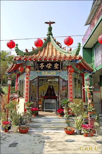 聖母亭造型也很中式。。 (記者楊金城攝)