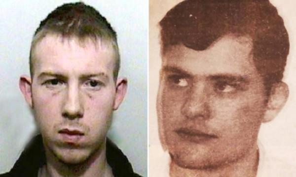 昔日因毆打同性戀者致死入獄的囚犯(左),和獄中一名謀殺同性伴侶的囚犯(右)相戀,兩人將在獄中成婚。(圖擷取自英國《都市報》)
