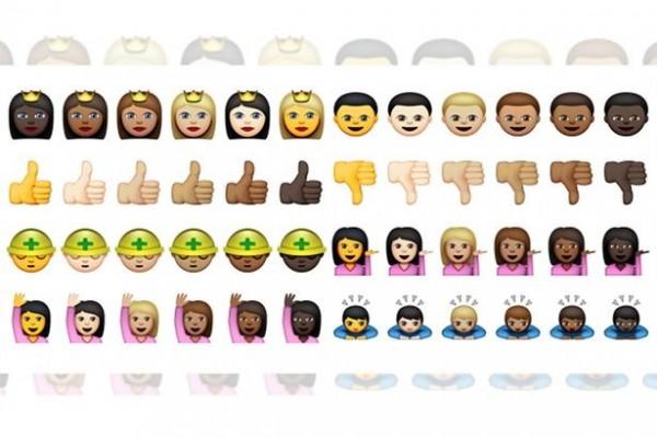 各種有「人」的表情符號都有不同膚色可以更換。(圖擷取自《鏡報》)