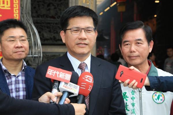 洪慈庸公開表示參選2016立委選舉,林佳龍認為只要年輕人願意挺身而出,社會就有希望。(資料照,記者歐素美攝)