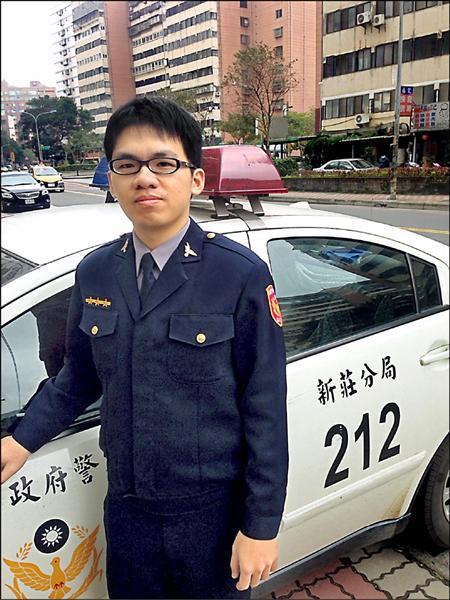 新莊分局文化派出所警員李孟昜。(記者曾健銘翻攝)