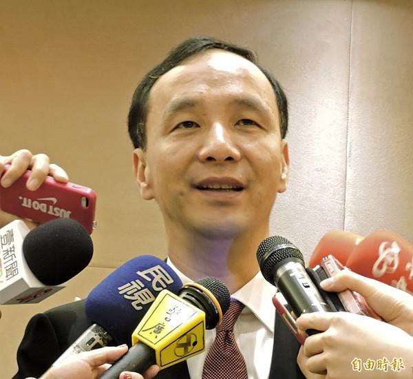 國民黨主席朱立倫。(記者賴筱桐攝)