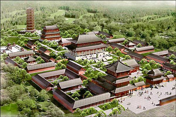中國河南嵩山少林寺打算在澳洲開發的澳洲少林寺度假村想像圖。(取自網路)