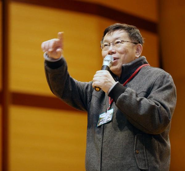 台北市長柯文哲。(中央社)