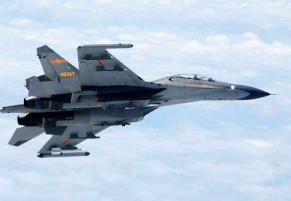 中國蘇愷27軍機。(資料照,美聯社)