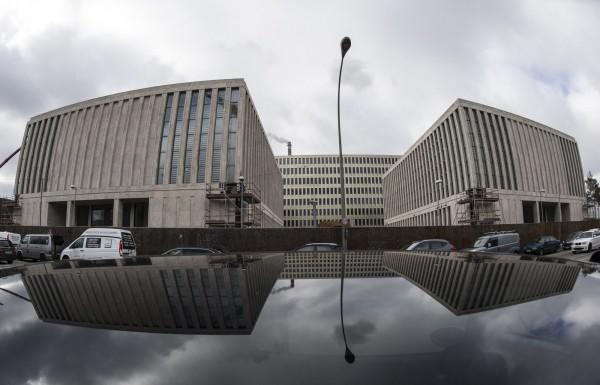德國聯邦情報局新總部大樓遭宵小入侵,拔走了4樓、5樓和6樓的水龍頭,大量漏水造成數百萬歐元的損失。(歐新社)