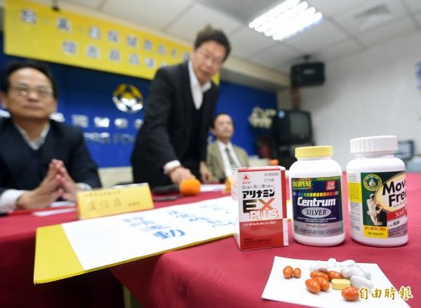 針對保健食品國內外價差,消基會進行調查,5日舉行記者會公布結果。(記者方賓照攝)