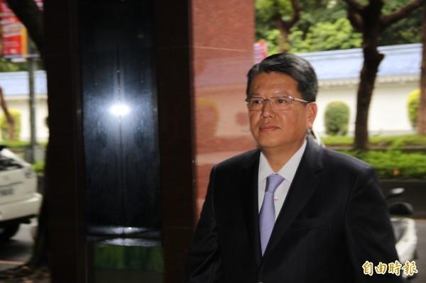 頂新集團四董魏應行下午到特偵組應訊。(記者吳昇儒攝)