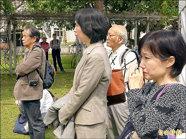 看到感謝台灣的影片,現場日人潸然淚下。(記者李雅雯攝)
