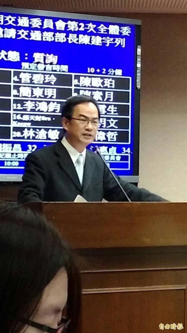 立委李昆澤要求發生空難的航空公司,3年內不得參與國際航權分配。(資料照,記者黃立翔攝)