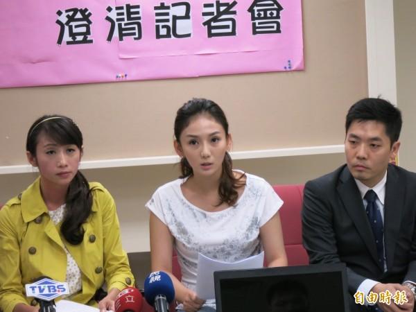 台北市議員許淑華曾陪同「太陽花學運女王」劉喬安舉辦澄清記者會。(資料照,記者陳慰慈攝)