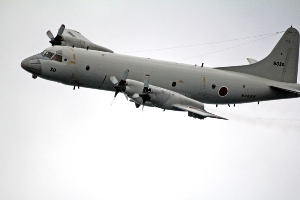 圖為日本海上自衛隊P-3C反潛機。(中央社資料照)