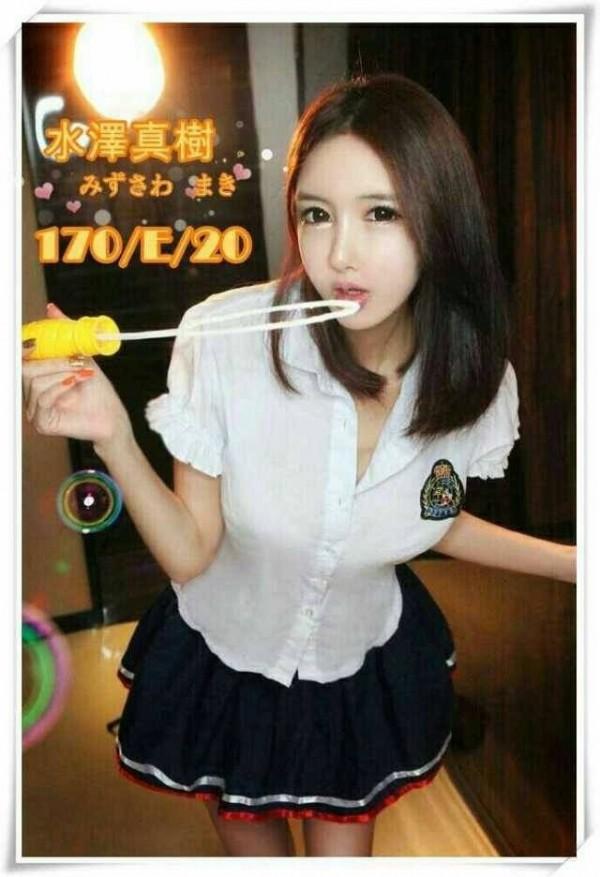 韓籍女子金貞嘉打著「水澤真樹」的藝名來台賣淫。(記者謝君臨翻攝)