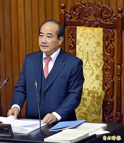 立法院長王金平。(資料照,記者方賓照攝)