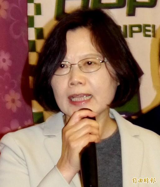 民進黨主席蔡英文。(資料照,記者盧姮倩攝)